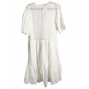 NEW english factory white eyelet heavy boho dress